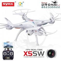 Dronas Syma X5SW su kamera