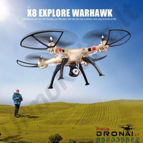 Dronas Syma X8HW su kamera