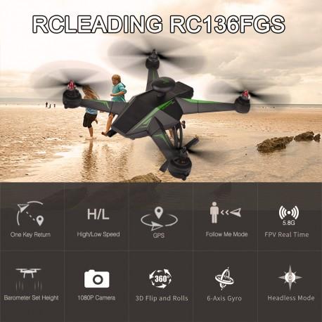 FPV DRONAS RC136 su Kamera ir GPS